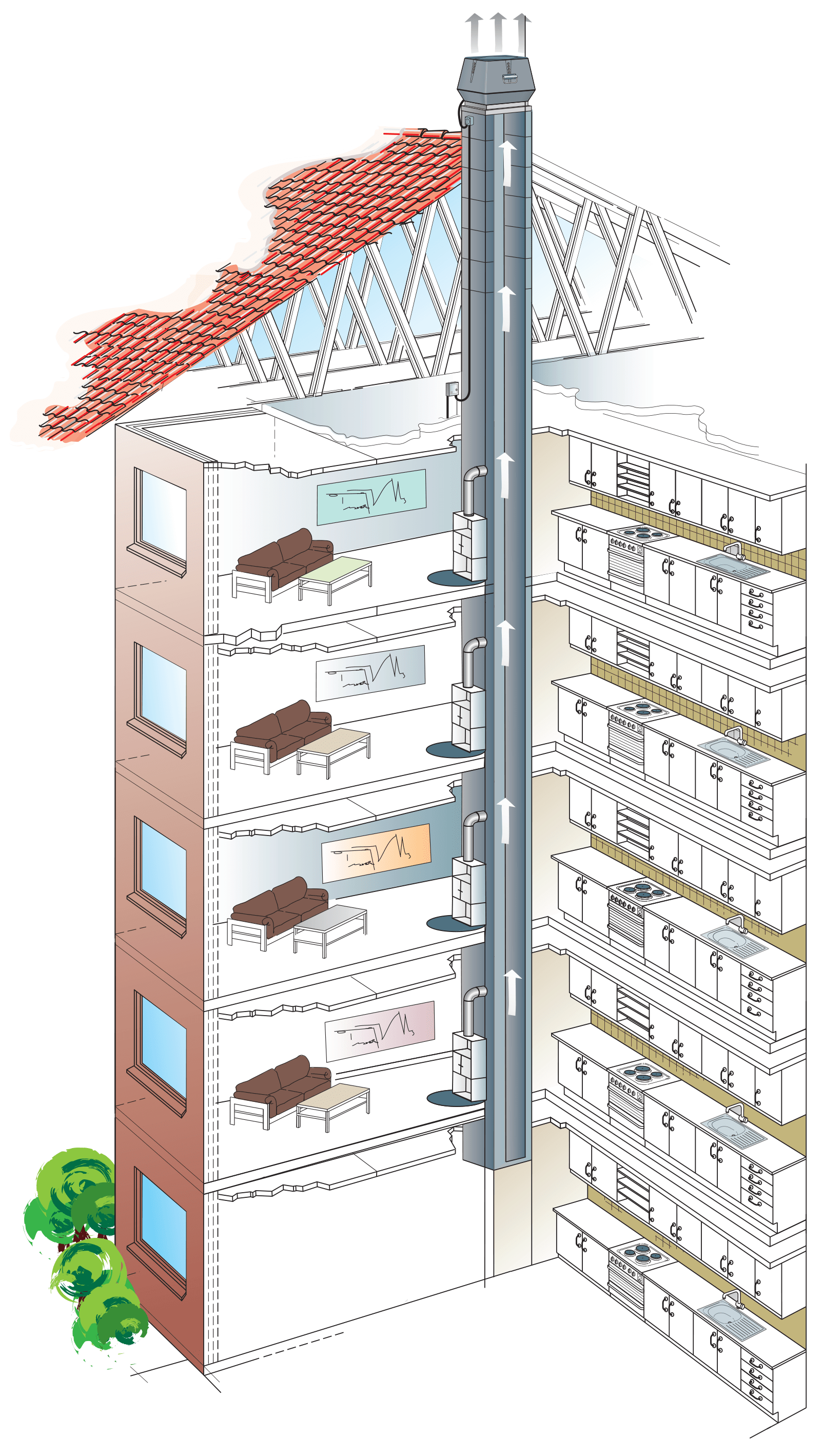 apartment blocks illustration
