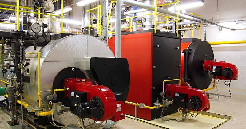 boilers in room